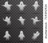 halloween scary ghost isolated... | Shutterstock .eps vector #719392924