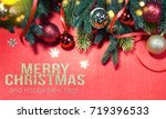 christmas holiday background. | Shutterstock . vector #719396533