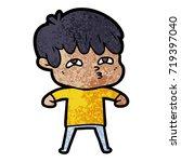 cartoon curious man   Shutterstock .eps vector #719397040