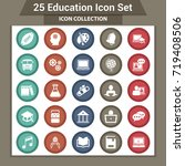 education icons set | Shutterstock .eps vector #719408506
