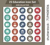 education icons set | Shutterstock .eps vector #719408506