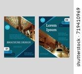 business brochure covers set.... | Shutterstock .eps vector #719410969