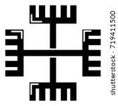 pagan ancient symbol icon ....   Shutterstock .eps vector #719411500