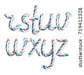 letters r  s  t  u  v  w  x  y  ... | Shutterstock .eps vector #719412328