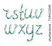 letters r  s  t  u  v  w  x  y  ... | Shutterstock .eps vector #719412340