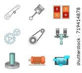 workbench icons set. cartoon...   Shutterstock .eps vector #719414878