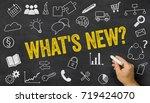 whats new written on a... | Shutterstock . vector #719424070
