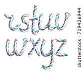 letters r  s  t  u  v  w  x  y  ... | Shutterstock . vector #719426944