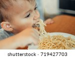 little boy with mom in the... | Shutterstock . vector #719427703