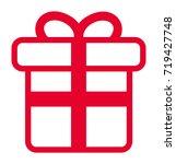 gift vector icon | Shutterstock .eps vector #719427748
