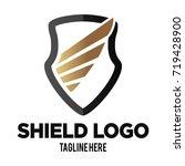 elegant shield shape with... | Shutterstock .eps vector #719428900