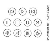 media player button vector set. ... | Shutterstock .eps vector #719431204