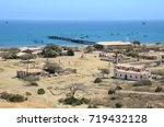 view of the town of lobitos ... | Shutterstock . vector #719432128