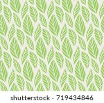 vector illustration of leaves... | Shutterstock .eps vector #719434846
