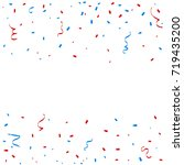 red and blue confetti and... | Shutterstock .eps vector #719435200