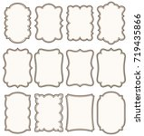 set of decorative vintage tags  ... | Shutterstock .eps vector #719435866