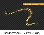 magic light effect. stardust... | Shutterstock .eps vector #719438506