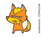 angry fox cartoon character | Shutterstock .eps vector #719441248