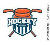 hockey sport logo | Shutterstock .eps vector #719441530