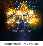 happy new year 2018 triangle... | Shutterstock .eps vector #719443003