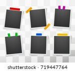 collection of blank photo... | Shutterstock .eps vector #719447764
