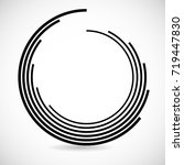 lines in circle form . spiral... | Shutterstock .eps vector #719447830