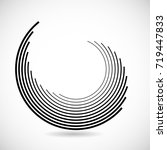lines in circle form . spiral... | Shutterstock .eps vector #719447833