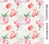 summer flowers for pattern... | Shutterstock . vector #719453788