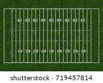 american football. rugby field...   Shutterstock . vector #719457814