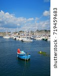 boats in concarneau  brittany ... | Shutterstock . vector #719459683