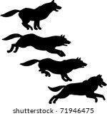 Stock vector running dog 71946475