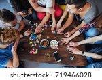 top view creative photo of... | Shutterstock . vector #719466028