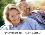 portrait of mature couple... | Shutterstock . vector #719466850