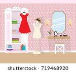 illustration of room interior... | Shutterstock .eps vector #719468920