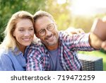 portrait of cheerful mature...   Shutterstock . vector #719472259