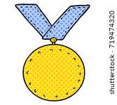 cartoon sports medal | Shutterstock .eps vector #719474320