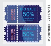 ticket templates. trendy... | Shutterstock .eps vector #719476456