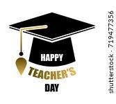 happy teacher's day greeting... | Shutterstock .eps vector #719477356