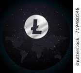 silver litecoin currency... | Shutterstock .eps vector #719480548