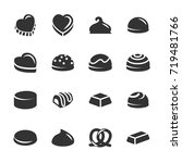 chocolate icon set 2  vector... | Shutterstock .eps vector #719481766