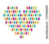sign of love   the heart of... | Shutterstock .eps vector #71948464