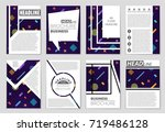 abstract vector layout... | Shutterstock .eps vector #719486128