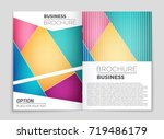 abstract vector layout... | Shutterstock .eps vector #719486179