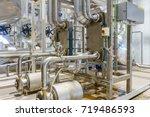metalic plate in heat exchange... | Shutterstock . vector #719486593