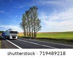 truck transportation   Shutterstock . vector #719489218