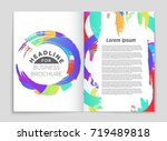 abstract vector layout... | Shutterstock .eps vector #719489818