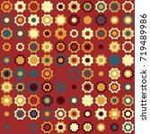 geometric pattern design  | Shutterstock .eps vector #719489986