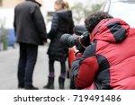 paparazzo   paparazzi   man... | Shutterstock . vector #719491486
