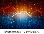 2d rendering cloud computing | Shutterstock . vector #719491873