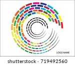 logo design   colorful vector  | Shutterstock .eps vector #719492560